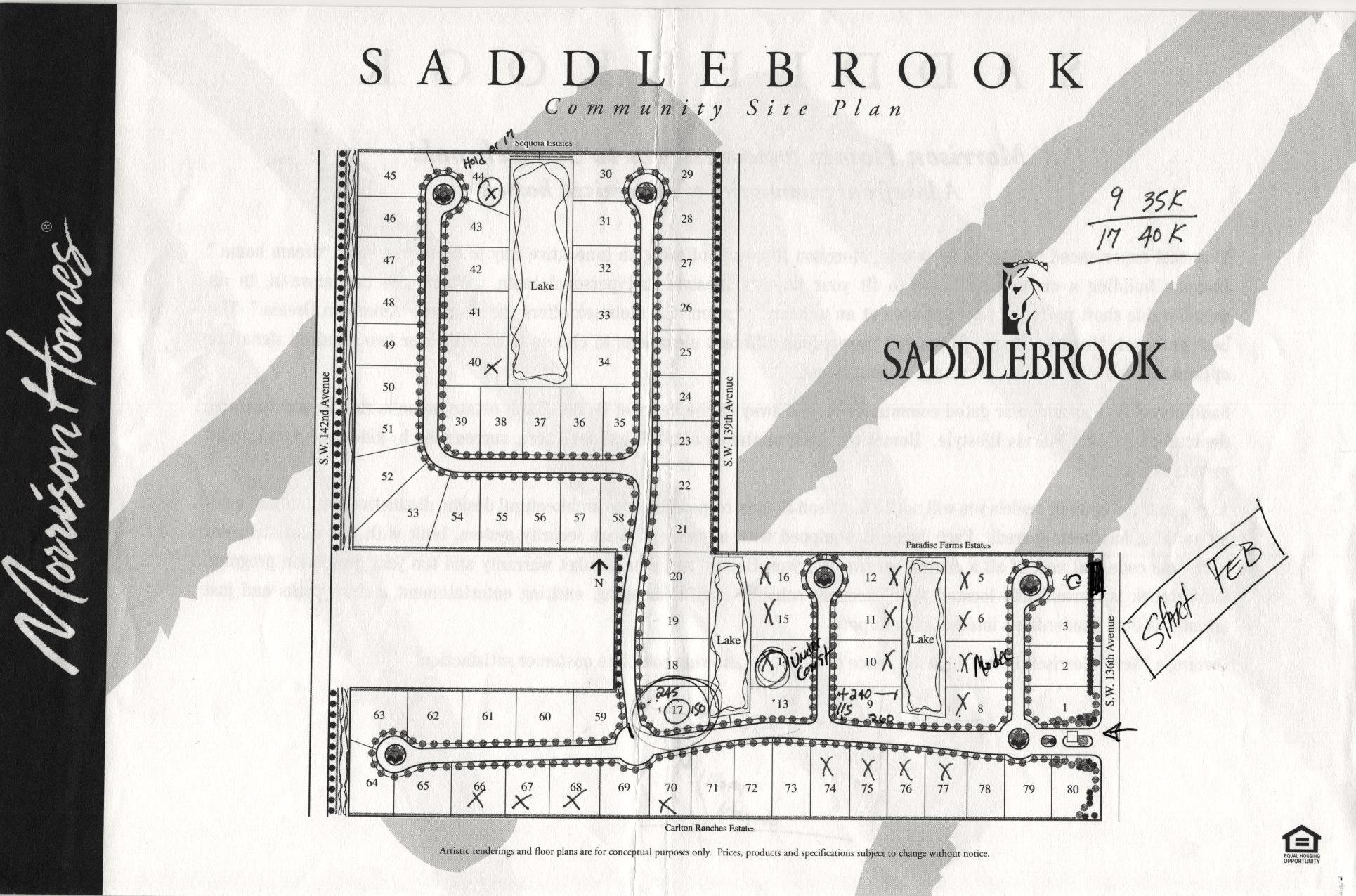 Saddlebrook Floor Plans And Community Profile